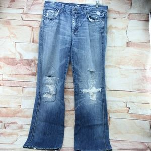 """7 for all mankind """"A"""" boot cut jeans size 32 GUC"""